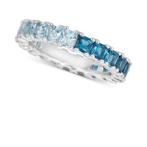Multitone Topaz Ring