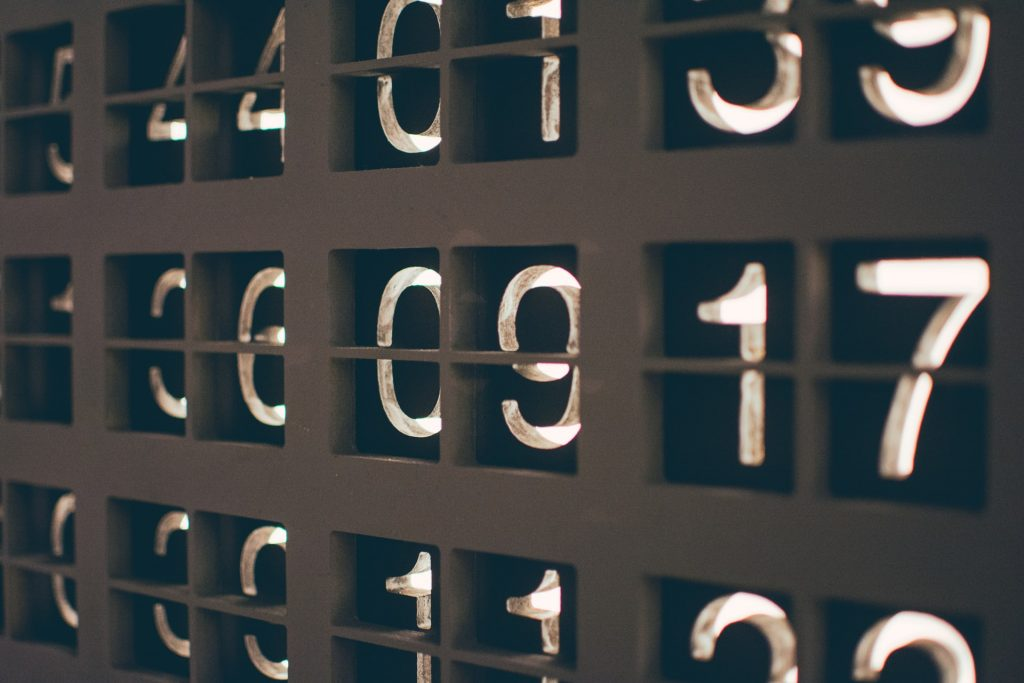 Numbers on a board