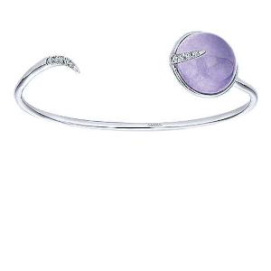 Purple Jade Open Bangle