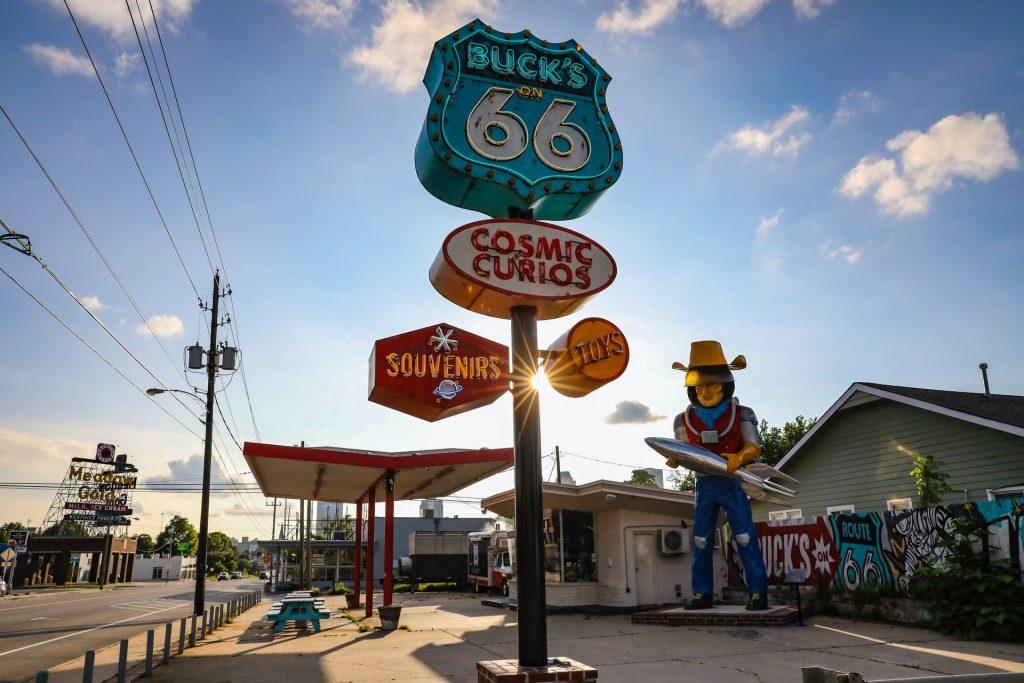 Tulsa Oklahoma gas station downtown