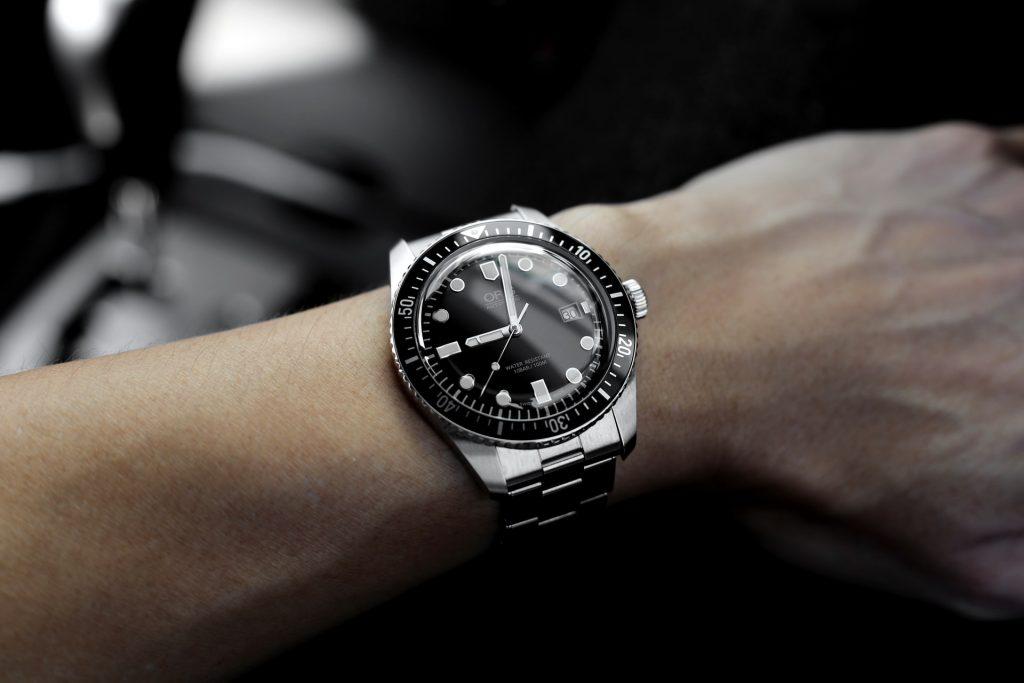 Watch on wrist